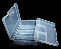 Универсальный двух-ярусный органайзер со съемными перегородками (23х 16 х 6 см.), фото 1