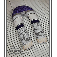"""Подушка для беременных U-образная XXL 290*185 Обнимашка Подкова """"Комби Розы"""" Купить"""