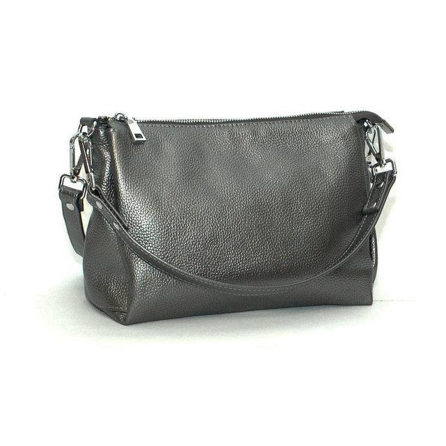 Кожаная сумка Флотар 36 Темно-серебристый (SK_36_nickel_flotar)