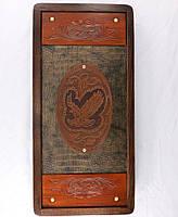 Нарды Гранд Презент средние Беркут кожа 51х51 см (31159)