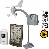 Домашняя метеостанция Bresser ClimaTemp FW Brown - барометр, термометр, гигрометр, анемометр, осадкомер