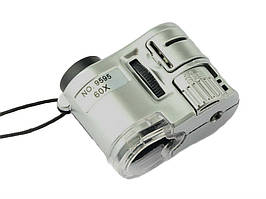 Карманный микроскоп MG 9595 60X с LED и ультрафиолетовой подсветкой