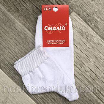 Носки женские демисезонные хлопок Смалий, 11В4-350Д, 23-25 размер, белые, 35015