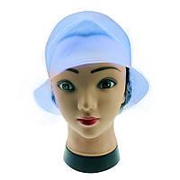Профессиональная парикмахерская шапочка голубая силиконовая  для колорирования волос