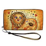 Кошелек женский Львов яркий принт с ручкой, размер 18,5 х 10 см, фото 7