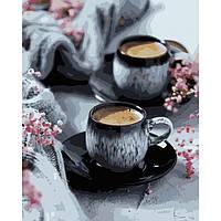 Картина по номерам Кофе на двоих  / пленка 40*50   арт. КНО5548