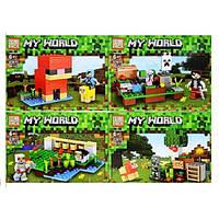 """Конструктор Lele 63011 (Аналог Lego Minecraft 21153) """"Шерстяная ферма 4в1"""" 314 деталей, фото 1"""