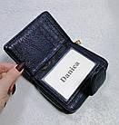 Женский синий кошелек из натуральной кожи, фото 7