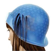 Профессиональная парикмахерская шапочка силиконовая белая для мелирования и колорирования волос