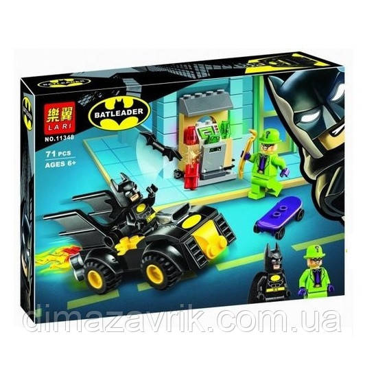 """Конструктор Bela 11348 (Аналог Lego Super Heroes 76137) """"Бэтмен и ограбление Загадочника"""" 71 деталь"""
