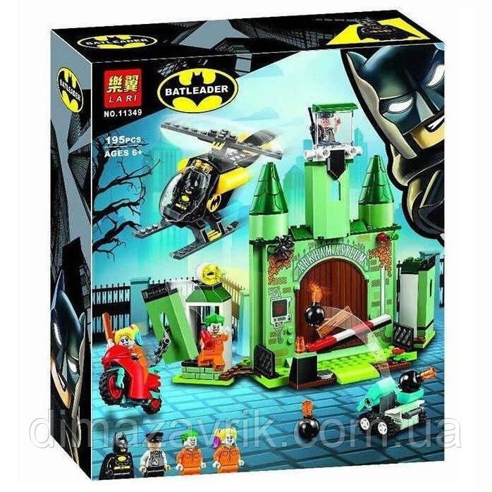 """Конструктор Bela 11349 (Аналог Lego Super Heroes 76138) """"Бэтмен и побег Джокера"""" 195 деталей"""