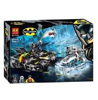 """Конструктор Bela 11350 (Аналог Lego Super Heroes 76118) """"Гонка на мотоциклах с Мистером Фризом"""" 216 деталей, фото 1"""