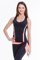 Майка женская для спорта BERSERK DOMINANCE MUSCLE черно-оранжевая