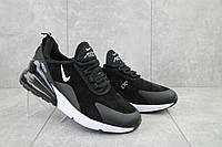 Мужские кроссовки искусственная замша весна/осень черные-белые Classica (5121 -5)