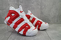 Мужские кроссовки кожа весна/осень белые-красные Nike Uptempo