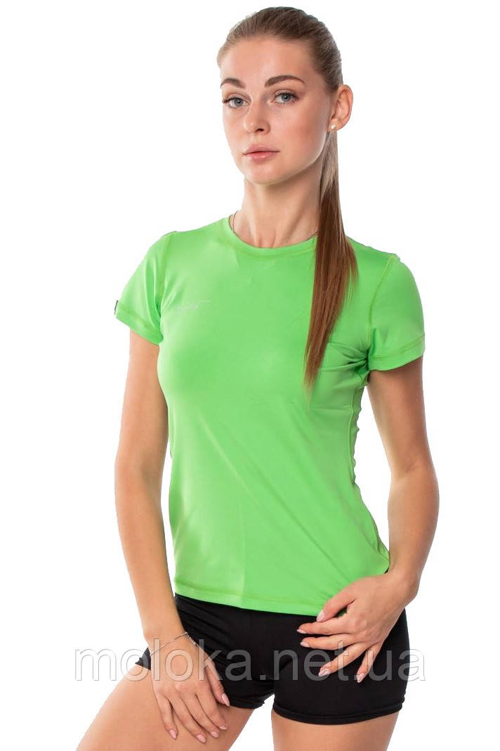 Спортивная женская футболка компрессионная Rough Radical Capri зеленая S