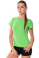 Спортивная женская футболка компрессионная Rough Radical Capri зеленая S, фото 1