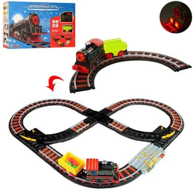 Залізниця ЖД SW7109 - ігровий набір залізна дорога, рейки, паровоз, знаки