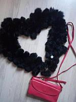 Женский шарф из кролика чёрный