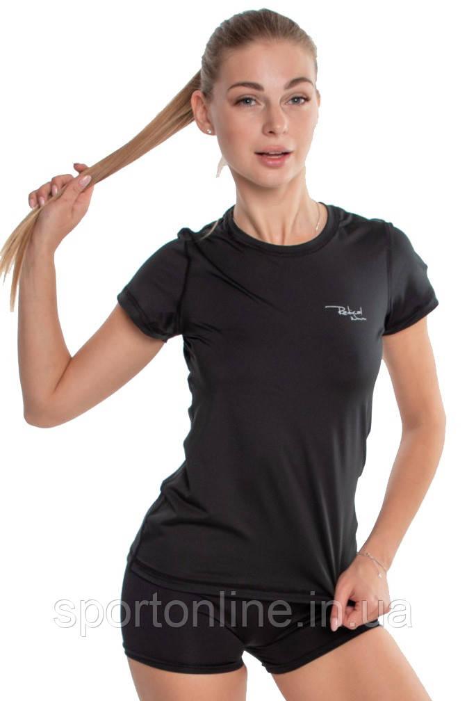 Спортивная женская футболка компрессионная Rough Radical Capri черная S