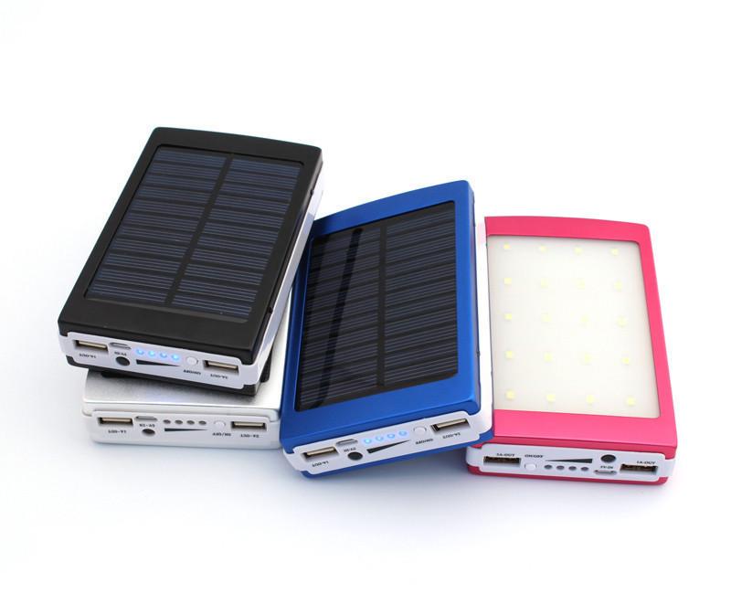 Solar power bank 36000 Mah. Павербанк с LED фонариком
