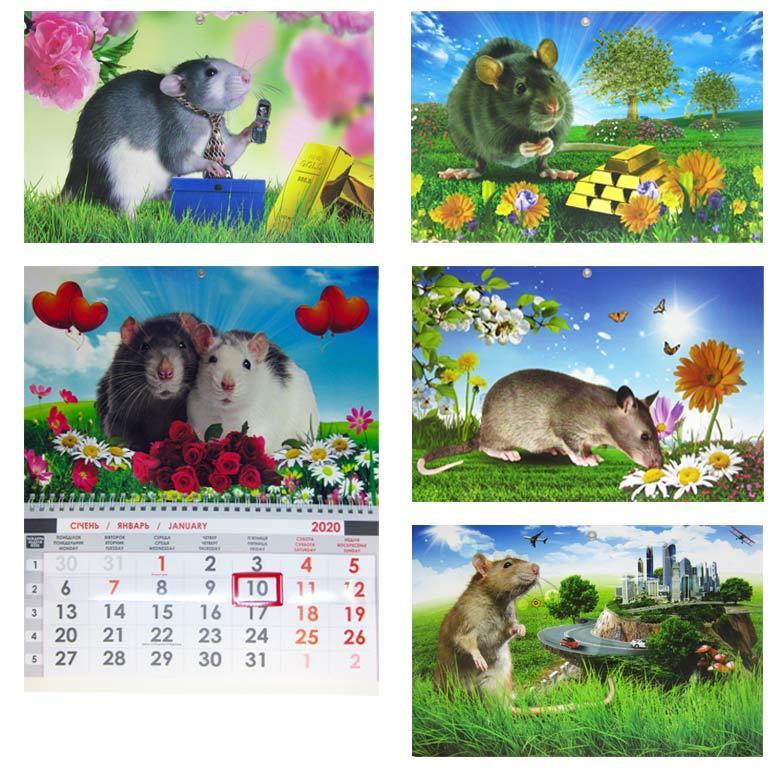 Календарь настенный 2020 Контраст односекционный (ассорти)