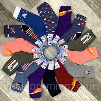 Детские носки махровые хлопок Классик, г. Черкассы, арт.7В-18, 22 размер (33-35), ассорти