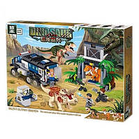 """Конструктор QL 1705 (АналогLegoJurassic World) """"Трицератопс и Тиранозавр"""" 522детали"""