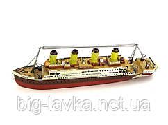 Металлический конструктор модели Титаника  (длина модели 14 см)