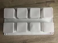 Форма силиконовая для евродесертов Куб 8шт