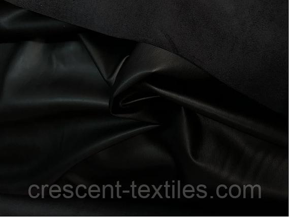 Ткань Кожа на замш (Черный), фото 2