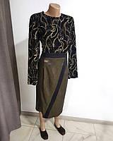 Платье нарядное черное с золотистым