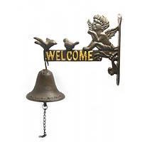 """КНР Колокол Чугунный """"welcome"""" (21Х33Х10 См) 25364"""