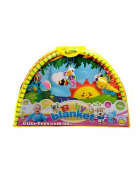 Коврик для малышей 518-02/3/4/6 с погремушками на дуге, в сумке 81*56*6 см