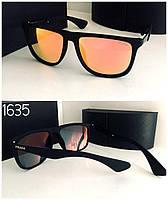 Мужские очки  Prada оранжевые зеркальные