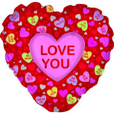 "CTI 36"" I Love You Candy Hearts Я люблю тебя"