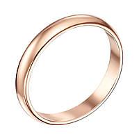 Золотое обручальное кольцо Любовь и верность, 2мм 000008406 17.5 размер