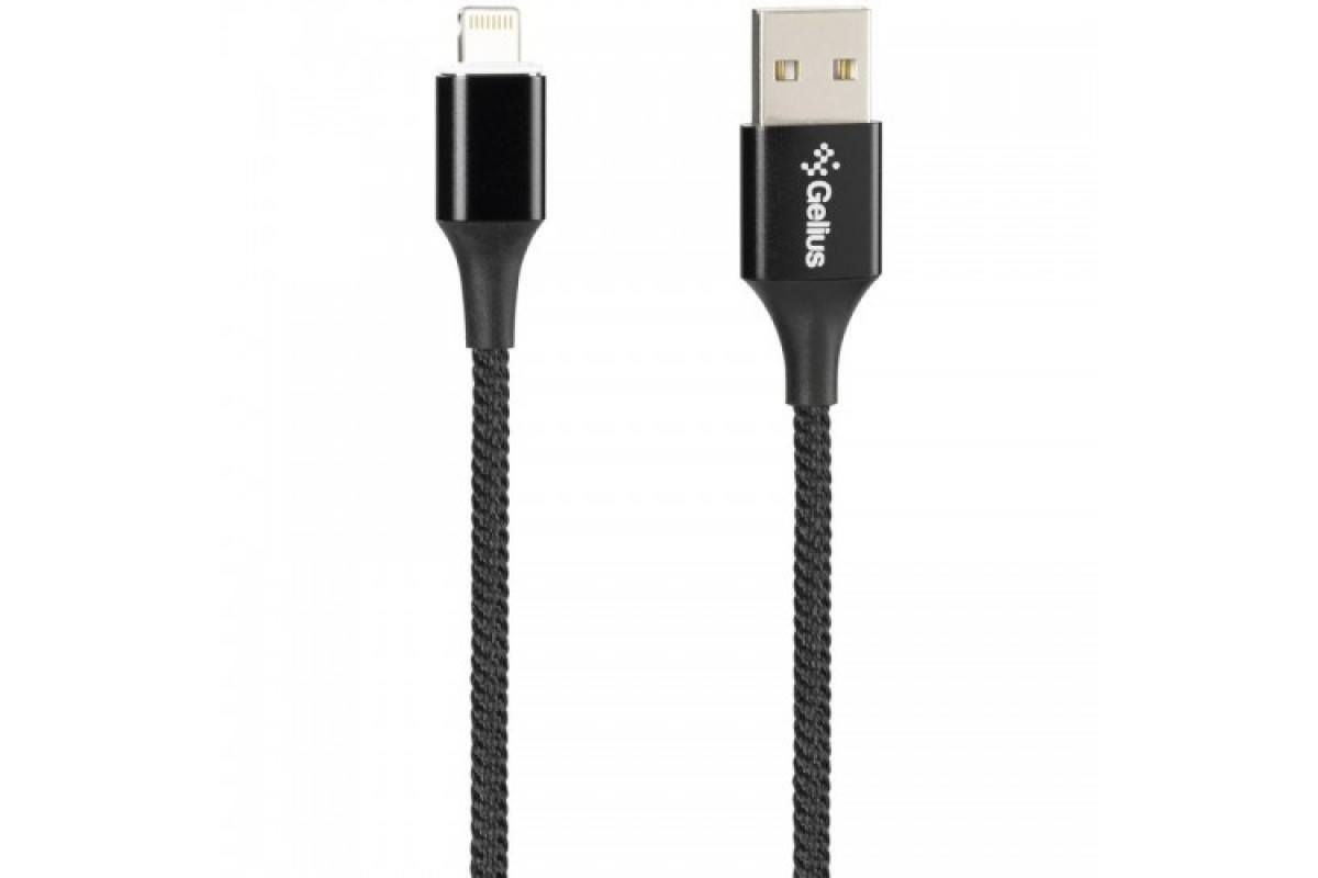 USB Cable Gelius Pro Magenta Transfer GP-MC-03i iPhone X Black