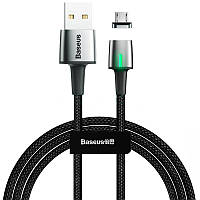USB Cable Baseus Zinc Fabric Magnetic MicroUSB (CAMXC-B01) Black 2m
