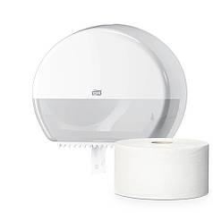 Диспенсер держатель туалетной бумаги в мини рулонах 555000 белый Elevation ТМ TORK пластик ударопрочный