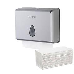 Держатель бумажных полотенец в листах сложение Z W Rixo Maggio P055S серебристый пластиковый настенный прочный