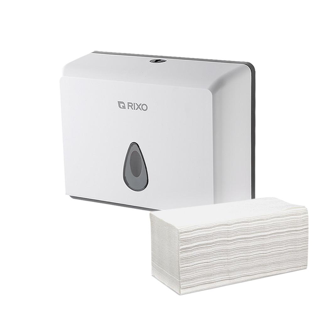 Диспенсер раздатчик листовых бумажных полотенец Z W сложения Rixo Maggio P055W белый пластиковый