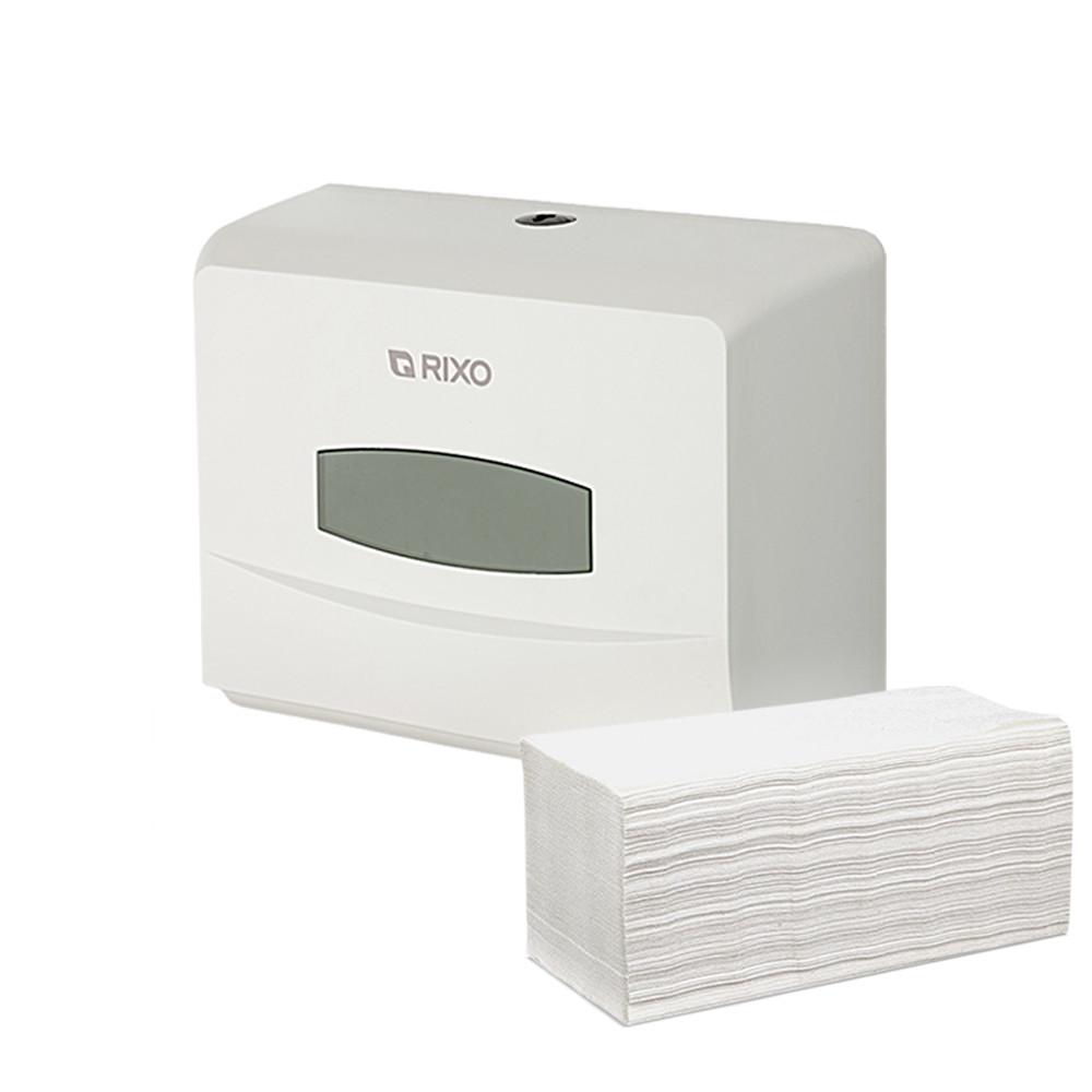 Диспенсер держатель бумажных полотенец в листах Z сложение Rixo Grande P125W белый ABS-пластик