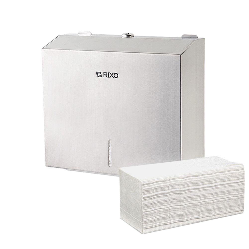 Диспенсер из нержавеющей стали для листовых бумажных полотенец Z сложения Rixo Solido P134 настенный