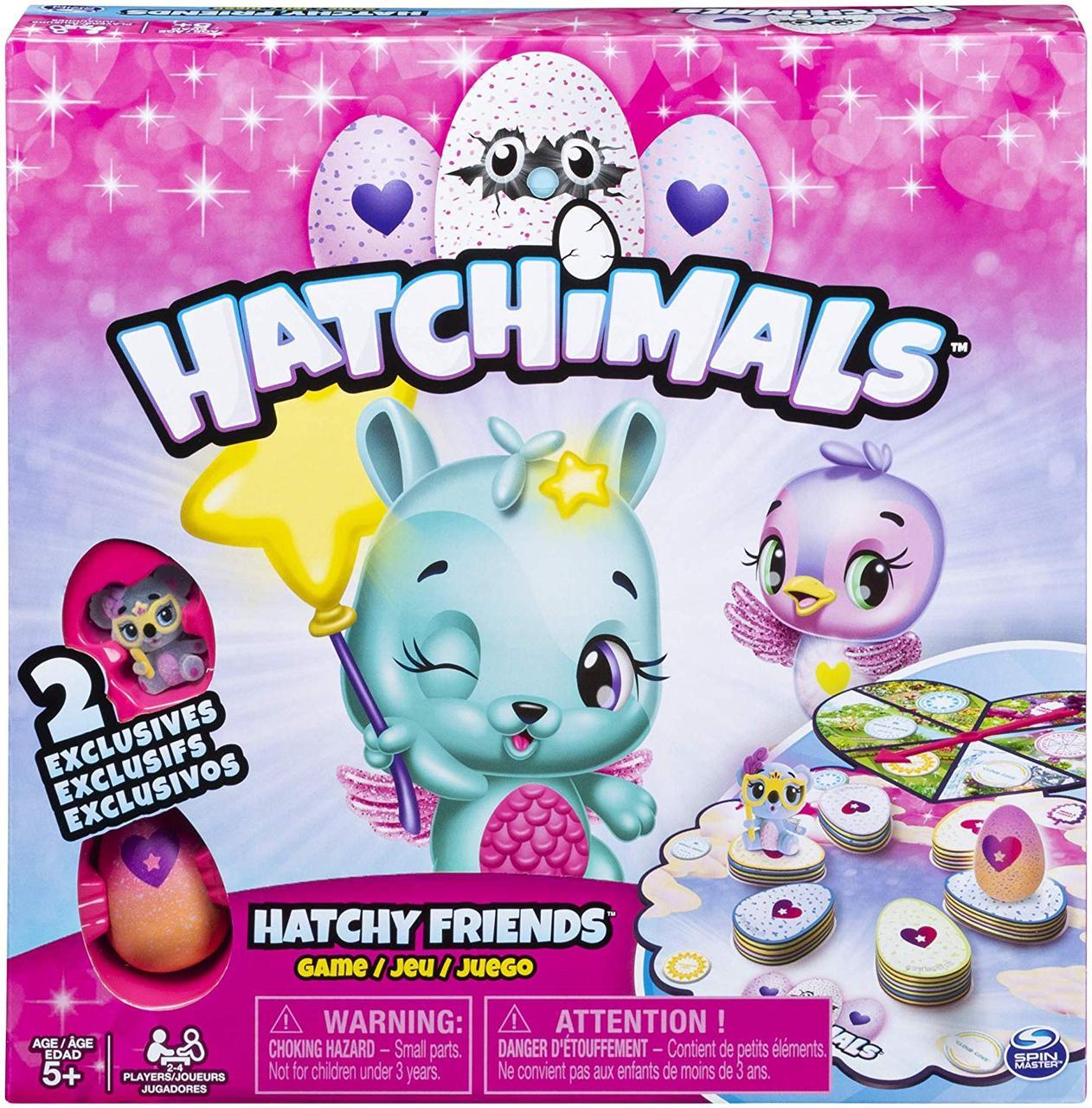 Spin Master Настольная игра с двумя фигурками 6046202 Games Hatchimals Hatchy Friends Game