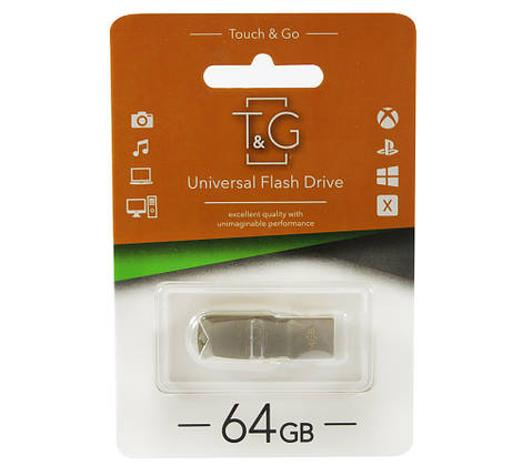 Флешка 64 Гб T&G 100 Metal series, TG100-64G, фото 2