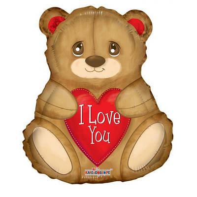 "К 18"" ILY Bear w/ Hearts Мишка с сердцем"