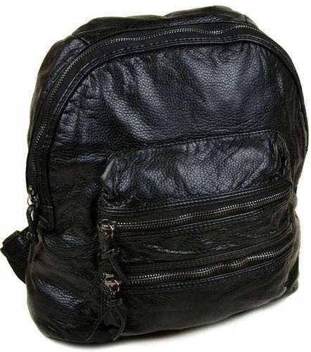 Превосходный  рюкзак из искусственной кожи 268 black, черный