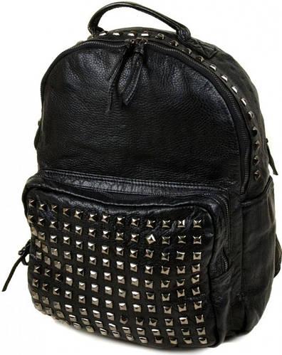 Стильный рюкзак из искусственной кожи 515 black, черный