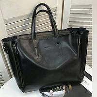 Женская брендовая кожаная сумка Galanty черная 4